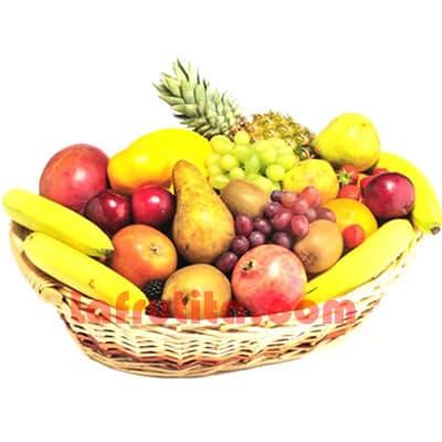 Lafrutita.com - Frutero Especial 01 - Codigo:FGR01 - Detalles: Cesta Grande conteniendo, 5 pl�ntanos, 4 manzanas, 1 pi�a, 2 racimos de uva, 2 peras, 2 kiwis, 2 mangos, 2 naranjas. El presente viene sellado al vacio para garantizar su frescura. La foto de la cesta es referencia.  - - Para mayores informes llamenos al Telf: 225-5120 o 476-0753.