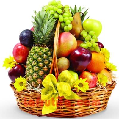 I-quiero.com - Frutero Especial 10 - Codigo:FGR10 - Detalles: Cesta Grande conteniendo, 5 pl�ntanos, 4 manzanas, 1 pi�a, 2 racimos de uva, 4 cerezos, 4 naranjas, 2 peras, 2 kiwis, 2 mangos, 2 naranjas. El presente viene sellado al vacio para garantizar su frescura. Incluye Flores segun imagen. La foto de la cesta es referencia.  - - Para mayores informes llamenos al Telf: 225-5120 o 476-0753.