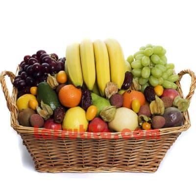 I-quiero.com - Frutero Grande 11 - Codigo:FGR11 - Detalles: Cesta Grande conteniendo, 5 pl�ntanos, 4 manzanas, 1 pi�a, 2 racimos de uva, 2 peras, 2 kiwis, 2 mangos, 2 naranjas. Incluye arandonos, 4 ciruelos, frutos de aguagaymanto. El presente viene sellado al vacio para garantizar su frescura. La foto de la cesta es referencia.   - - Para mayores informes llamenos al Telf: 225-5120 o 476-0753.