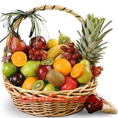 Lafrutita.com - Frutero Grande 13 - Codigo:FGR13 - Detalles: Cesta Grande conteniendo, 5 pl�ntanos, 4 manzanas, 1 pi�a, 2 racimos de uva, 2 peras, 2 kiwis, 2 mangos, 2 naranjas. El presente viene sellado al vacio para garantizar su frescura. La foto de la cesta es referencia.   - - Para mayores informes llamenos al Telf: 225-5120 o 476-0753.