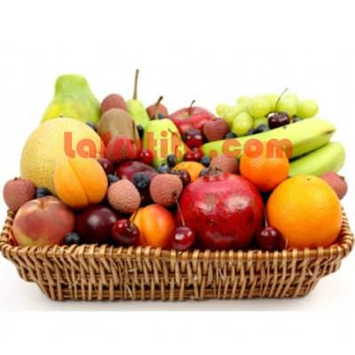 I-quiero.com - Frutero Grande 14 - Codigo:FGR14 - Detalles: Cesta Grande conteniendo, 5 pl�ntanos, 4 manzanas, 1 pi�a, 2 racimos de uva, 2 peras, 2 kiwis, 2 mangos, 2 naranjas. El presente viene sellado al vacio para garantizar su frescura. La foto de la cesta es referencia.   - - Para mayores informes llamenos al Telf: 225-5120 o 476-0753.
