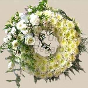 Corona funebre Blanca 09