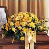 Arreglo Funebre 19 - Codigo:FNB19 - Detalles: Manto f�nebre compuesto por margaritas, astromelias, rosas amarillas, claveles, hojas, plantas y follaje de estaci�n, incluye tarjeta.  - - Para mayores informes llamenos al Telf: 225-5120 o 4760-753.