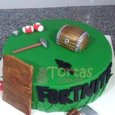 Tortas.com.pe - Fortnite 03  - Codigo:FNC03 - Detalles: Deliciosa torta a base de keke de vainilla, ba�ada con manjar y forrada con masa elastica, incluye decoracion de la imagen, base de aluminio para garantizar perfecta presentacion. Tama�o 25cm de diametro. - - Para mayores informes llamenos al Telf: 225-5120 o 476-0753.