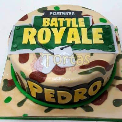 Tortas.com.pe - Torta Battle Royale 13 - Codigo:FNC13 - Detalles: Deliciosa torta a base de keke de vainilla, ba�ada con manjar y forrada con masa elastica, incluye decoracion de la imagen, base de aluminio para garantizar perfecta presentacion. Tama�o 20cm de diametro. - - Para mayores informes llamenos al Telf: 225-5120 o 476-0753.