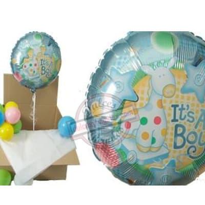 Lafrutita.com - Caja Sorpresa con Globos 05 - Codigo:GBH05 - Detalles: Hermosa caja sorpresa compuesto por  1 globo metalico con el texto It�s  a BOY, que al momento de abrir la caja los globos se elevaran ya que es inflado con gas Helio, incluye globos multicolores  (los globos multicolores no estan inflados con helio). Este producto es necesario ordenarlo con 4 d�as de Anticipaci�n. - - Para mayores informes llamenos al Telf: 225-5120 o 476-0753.