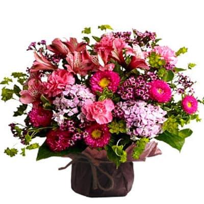 Lafrutita.com - Arreglo de Flores - Codigo:GBH10 - Detalles: -OFERTA- floral en base ceramica, el color de las flores es referencial. - - Para mayores informes llamenos al Telf: 225-5120 o 476-0753.