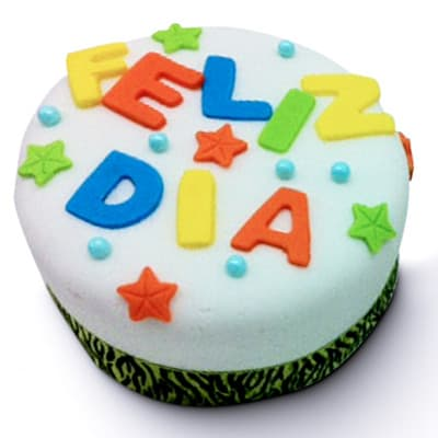 I-quiero.com - Torta Feliz dia - Codigo:SEC09 - Detalles: Torta de Keke De Vainilla decorado con Masa con mensaje Feliz dia, 10cm x 10cm.  - - Para mayores informes llamenos al Telf: 225-5120 o 476-0753.
