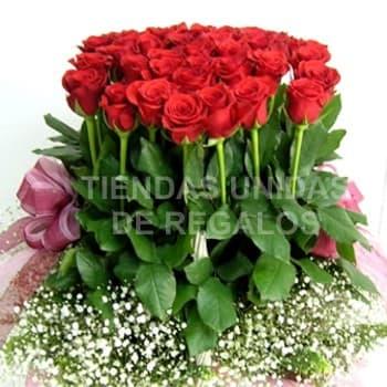 Bosque de 40 Rosas - Codigo:AGP14 - Detalles: Arreglo grande de 60cm de altura, conteniendo 60 rosas importadas, incluye base de mimbre y follaje de estac�on. - - Para mayores informes llamenos al Telf: 225-5120 o 4760-753.