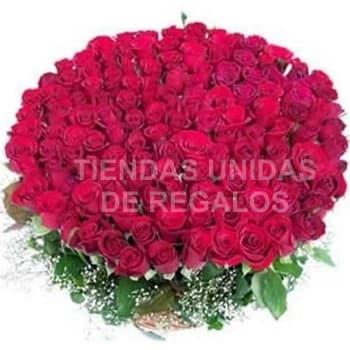 Tortas.com.pe - Dilo con 400 rosas - Codigo:AGP25 - Detalles: Base de ceramica, 400 rosas importadas segun imagen. altura del arreglo de 70cm. Incluye tarjeta de dedicatoria y follaje de estaci�n. - - Para mayores informes llamenos al Telf: 225-5120 o 476-0753.
