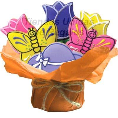 Lafrutita.com - Sorpresa Especial 09 - Codigo:GLA09 - Detalles: 6 galletas en variedad de formas como mariposas,rosas y coraz�n, maceterito de ceramica adornado con papel ceda, tarjeta de dedicatoria. Este producto se realiza con 24 horas de anticipaci�n. - - Para mayores informes llamenos al Telf: 225-5120 o 476-0753.