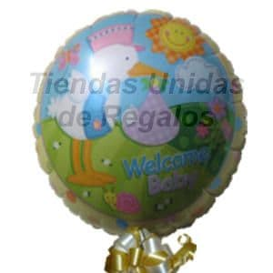Lafrutita.com - Globo 13 - Codigo:GLL13 - Detalles: Globo metalico de 20 cm con texto Welcome Baby. - - Para mayores informes llamenos al Telf: 225-5120 o 476-0753.