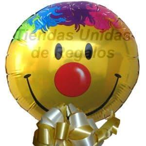 Diloconrosas.com - Globo 15 - Codigo:GLL15 - Detalles: Globo metalico de 20 cm con imagen el de una carita feliz. - - Para mayores informes llamenos al Telf: 225-5120 o 476-0753.