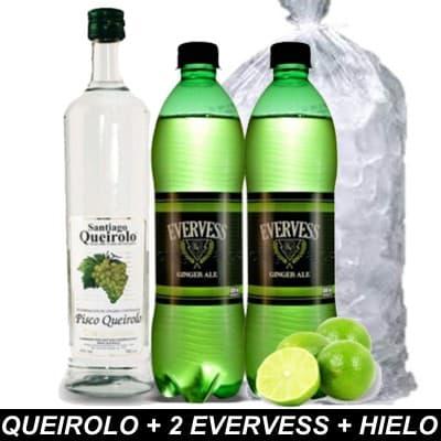 Deliregalos.com - QUEIROLO + 2 EVERVESS + HIELO - Codigo:HLK05 - Detalles: Botella Pisco Queirolo de 750ml, 2 evervess de 1.5 litros cada uno y hielo de 2kilos - - Para mayores informes llamenos al Telf: 225-5120 o 476-0753.