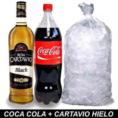 Deliregalos.com - Coca Cola + Cartavio + Hielo - Codigo:HLK06 - Detalles: 1 botella de coca cola 1.5 + ron cartavio 750ml + bolsa de59 hielo de 2kilos - - Para mayores informes llamenos al Telf: 225-5120 o 476-0753.