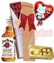 Tortas.com.pe - Pack Dia de la Amiga 11 - Codigo:IDA11 - Detalles: Whisky importado americano Jim Beam , caja con 6 rosas importadas, globo Te amo, caja con 6 bombones importados de francia Ferrero Rocher. Tarjeta de dedicatoria. - - Para mayores informes llamenos al Telf: 225-5120 o 476-0753.