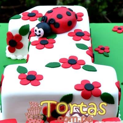 Diloconrosas.com - Torta Mariquita 03 - Codigo:LBB03 - Detalles: Keke De Vainilla   el keke esta finamente decorado en masa el�stica, Medida: 20x30 dise�o segun imagen - - Para mayores informes llamenos al Telf: 225-5120 o 476-0753.