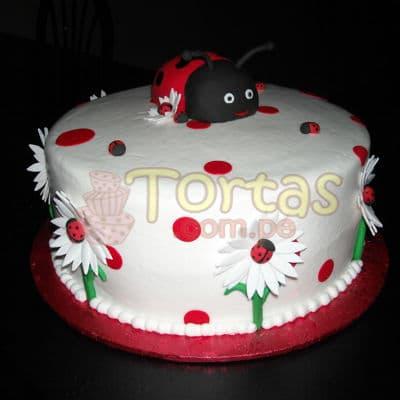 Diloconrosas.com - Torta Mariquita 11 - Codigo:LBB11 - Detalles: Keke De Vainilla   el keke esta finamente decorado en masa el�stica, Medida:25 cm de diametro, dise�o segun imagen - - Para mayores informes llamenos al Telf: 225-5120 o 476-0753.