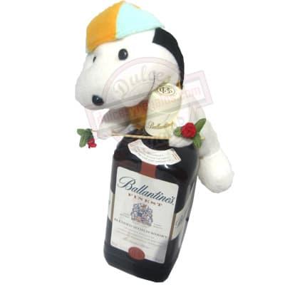 Deliregalos.com - Whisky Ballantines + Peluche - Codigo:LCD17 - Detalles: Whisky Ballantine�s (blended Scotch whisky) Volumen: 750ml. Descripcion: whisky.  Incluye de Cortes�a un lindo peluche. Este producto deber� ordenarse con 3 dia �til de anticipaci�n. El peluche es referencia y podr� ser cambiado. por uno similar y de igual precio. El color y modelo del peluche es referencial - - Para mayores informes llamenos al Telf: 225-5120 o 476-0753.
