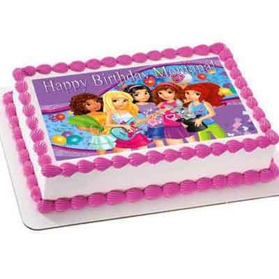 Diloconrosas.com - Torta Lego Friends 06 - Codigo:LGT19 - Detalles: keke De Vainilla   ba�ado en manjar y forrado en su totalidad con masa elastica, con las siguientes medidas: 20 x 30 cm , imagen en papel fotoimpresion - - Para mayores informes llamenos al Telf: 225-5120 o 476-0753.
