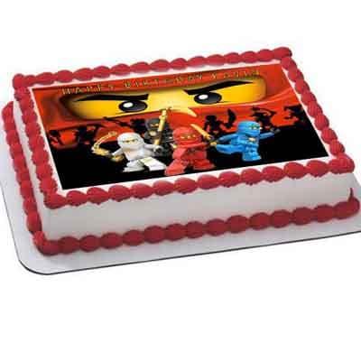 Tortas.com.pe - Torta Lego ninjago 02 - Codigo:LGT20 - Detalles: keke De Vainilla   ba�ado en manjar y forrado en su totalidad con masa elastica, con las siguientes medidas: 20 x 30 cm , imagen en papel fotoimpresion - - Para mayores informes llamenos al Telf: 225-5120 o 476-0753.