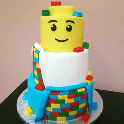 Tortas.com.pe - Torta Lego 11 - Codigo:LGT23 - Detalles: keke De Vainilla   ba�ado en manjar y forrado en su totalidad con masa elastica, con las siguientes medidas: 1er piso de 20 cm de diametro y 2do piso de 15 cm de diametro y 3er piso de10 cm de diametro  - - Para mayores informes llamenos al Telf: 225-5120 o 476-0753.