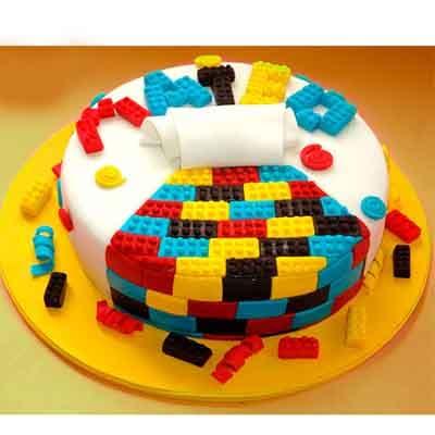 Diloconrosas.com - Torta Lego 13 - Codigo:LGT26 - Detalles: keke De Vainilla   ba�ado en manjar y forrado en su totalidad con masa elastica, con las siguientes medidas: 25 cm de diametro , bloques modelados  - - Para mayores informes llamenos al Telf: 225-5120 o 476-0753.