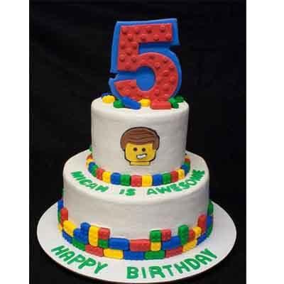 Tortas.com.pe - Torta Lego 14 - Codigo:LGT28 - Detalles: keke De Vainilla   ba�ado en manjar y forrado en su totalidad con masa elastica, con las siguientes medidas: 1er piso de 20 cm de diametro y 2do piso de 10 cm de diametro , inclye numero, bloques modelados  - - Para mayores informes llamenos al Telf: 225-5120 o 476-0753.