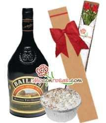 Tortas.com.pe - Caja de 2 rosas + Licor Baileys y postre - Codigo:LIC09 - Detalles: Licor Bayleys de 750cc, Caja ecol�gica de 2 rosas importadas y delicioso postre 3 leches. - - Para mayores informes llamenos al Telf: 225-5120 o 476-0753.