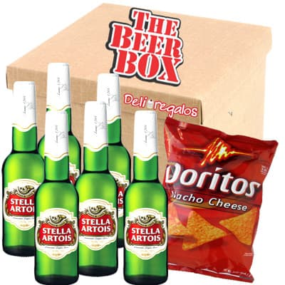 Pack de Stella Artois - Codigo:MCE12 - Detalles: Elegante caja de regalo incluyendo: 6 cervezas Stella Artois, cada una es de 350ml. Incluye bolsa de Doritos. El presente incluye tarjeta de dedicatoria  - - Para mayores informes llamenos al Telf: 225-5120 o 4760-753.