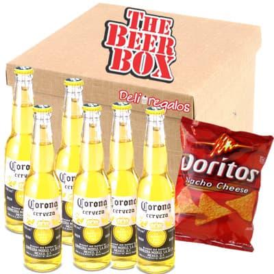 Pack Cerveza Corona - Codigo:MCE13 - Detalles: Elegante caja de regalo incluyendo: 6 cervezas corona, cada una es de 330ml, incluye doritos. El presente incluye tarjeta de dedicatoria  - - Para mayores informes llamenos al Telf: 225-5120 o 4760-753.