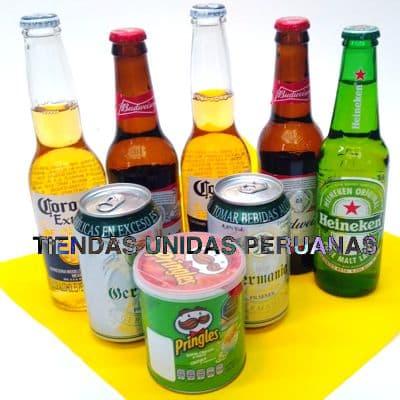 Pack Cervezas Internacionales - Codigo:MCE14 - Detalles: Elegante caja de regalo incluyendo: 7 cervezas importadas, pringles de 40g El presente incluye tarjeta de dedicatoria. - - Para mayores informes llamenos al Telf: 225-5120 o 4760-753.