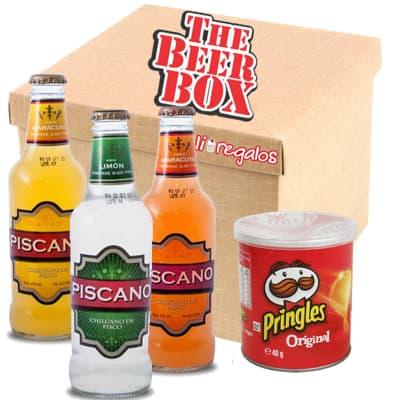 Pack Piscano - Codigo:MCE15 - Detalles: Elegante caja de regalo incluyendo: 3 deliciosas botellas de piscano, cada una es de 275ml, pringles de 40g El presente incluye tarjeta de dedicatoria  - - Para mayores informes llamenos al Telf: 225-5120 o 4760-753.