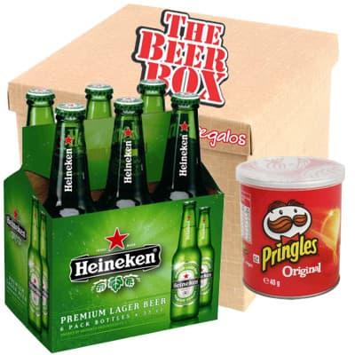 Pack Heineken - Codigo:MCE17 - Detalles: Elegante caja de regalo incluyendo: 6 cervezas heineken , cada una es de 330ml, incluye pringles 40g. El presente incluye tarjeta de dedicatoria  - - Para mayores informes llamenos al Telf: 225-5120 o 4760-753.
