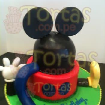 Diloconrosas.com - Mini Casa de Mickey - Codigo:MCK06 - Detalles: Torta de 15cm de diametro, incluye decorado de cabeza de mickey en espuma forrado de masa elastica. El pie y mano de mickey es tambien de espuma. Keke De Vainilla y relleno con masa elastica. - - Para mayores informes llamenos al Telf: 225-5120 o 476-0753.