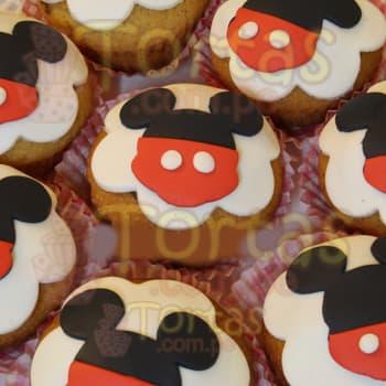 Diloconrosas.com - 8 Muffins de Mickey - Codigo:MCK10 - Detalles: 8 Deliciosos muffins de vainilla con decoracion en masa elastica segun imagen.  El presente viene en una caja e incluye tarjeta de dedicatoria. - - Para mayores informes llamenos al Telf: 225-5120 o 476-0753.