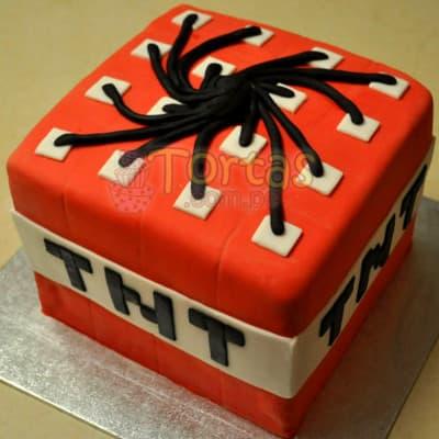 Lafrutita.com - Torta MineCraft 07 - Codigo:MCT07 - Detalles: Espectacular torta a base de keke De Vainilla, ba�ado con manjar blanco y forrado con masa elastica. La torta incluye mu�ecos segun imagen en azucar. El tama�o de la torta es de 15cm x 15cm. Este keke incluye doble altura (15cm alto) - - Para mayores informes llamenos al Telf: 225-5120 o 476-0753.