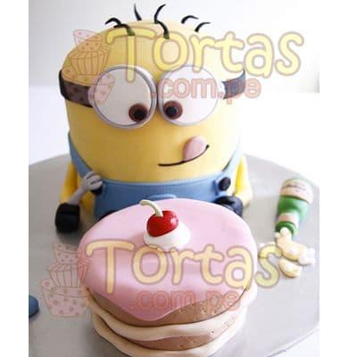 Torta  Villano Favorito 09 - Codigo:MVF09 - Detalles: Keke ingles ba�ado con manjar blanco y decorado con masa el�stica. La torta tiene una imagen de 10cm de diametro y 20 de alto incluye una segunda minitorta  en forma de cupcake de 9cm de alto - - Para mayores informes llamenos al Telf: 225-5120 o 4760-753.
