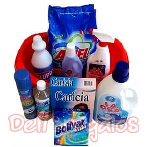 Deliregalos.com - Canasta de Viveres 15 - Codigo:CNT14 - Detalles: Canasta ! Que Viva el lavado ! 1 bolsa de detergente Ariel Oxi Azul de 2.6 kg 1 botella de suavizante para ropa Suavitel Primavera 1 paquete de jab�n Bolivar x 2 barras 1 caja de detergente para ropa delicada Caricia x 250 grs. 1 botella de lej�a Clorox x 1 lt. 1 botella de Seko (limpia ropa fina) 1 botella de La Oca cuellos y pu�os (elimina las manchas) 1 spray Amor Plancha F�cil 1 botella de la Oca detergente L�quido 1 batea chica  - - Para mayores informes llamenos al Telf: 225-5120 o 476-0753.