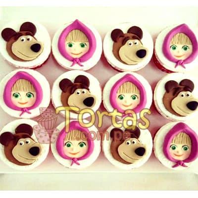 Cupcakes Masha y el Oso - Codigo:MYS03 - Detalles: Delicoso 12 muffins de vainilla , incluyen diseños en foto impresion totalmente comestible de masha y el oso. - - Para mayores informes llamenos al Telf: 225-5120 o 4760-753.