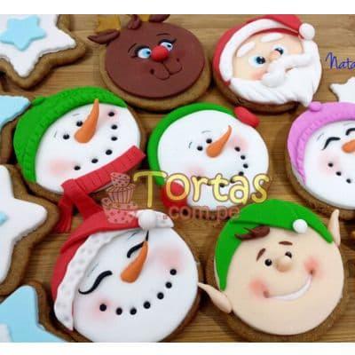 Galletas Navidad 01 - Codigo:NAC04 - Detalles: 7 Galletas redondas decoradas con masa elástica, motivos navideños. Presentación en caja sellada - - Para mayores informes llamenos al Telf: 225-5120 o 4760-753.