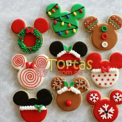 Galletas Navidad 02 - Codigo:NAC05 - Detalles: 9 Deliciosas galletas en forma de mickey decoradas con masa elástica. - - Para mayores informes llamenos al Telf: 225-5120 o 4760-753.