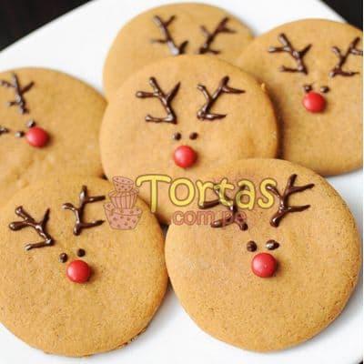 Galletas Navidad 03 - Codigo:NAC06 - Detalles: 6 Galletas redondas con alusión a los renos, decorados con masa elástica - - Para mayores informes llamenos al Telf: 225-5120 o 4760-753.