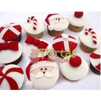 Deliregalos.com - Muffin Navide�os 08 - Codigo:NAC16 - Detalles: 12 muffins de vainilla decorados con masa el�stica seg�n imagen - - Para mayores informes llamenos al Telf: 225-5120 o 476-0753.