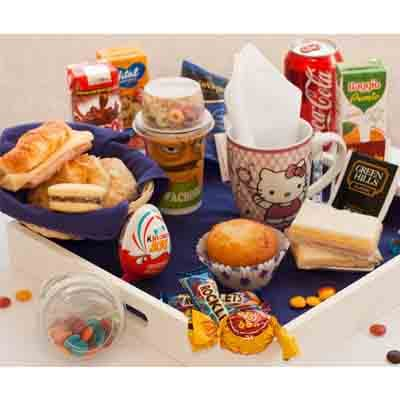 Lafrutita.com - Desayuno ni�a 05 - Codigo:NAS05 - Detalles: Desayuno infantil, compuesto por taza personalizada, infusiones, 1 yogurt en vasito con cereal, 1 muffin de vainilla, 2 tostadas, porcion de mermelada y matequilla, 1 sandwich mixto, 4 alfajores, 1 huevo kinder sorpresa, 2 boonobon, 1 cocacola en lata, 1 caja de frugos, 1 caja de chocolatada, chinchines, 4 galletas chocochip, todo en una linda bandeja. - - Para mayores informes llamenos al Telf: 225-5120 o 476-0753.