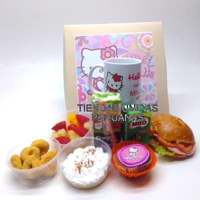 Lafrutita.com - Desayuno ni�a 12 - Codigo:NAS12 - Detalles: Desayuno hello kitty, compuesto pro taza personalizada, 1 sandiwch de pollo con durazno , infusiones, caf�, postre de tartaleta, 4 tostadas, porcion de mantequilla y mermelada, cajita de chocolatada, cajita de frugos, muffin ba�ado en chocolate, 2 bonobon, todo en una caja de regalo - - Para mayores informes llamenos al Telf: 225-5120 o 476-0753.