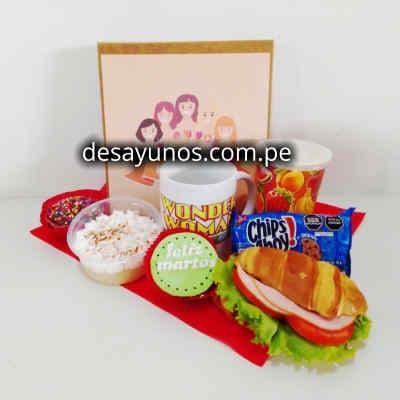 Desayunos tematicos para chicas | Desayuno tematico de la Mujer Maravilla - Cod:NAS14
