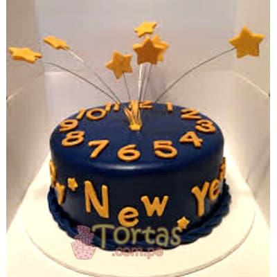 Deliregalos.com - Torta Nuevo 01 - Codigo:NYR01 - Detalles: Delicioso keke De Vainilla ba�ado con manjar blanco y forrado con masa elastica.  Incluye decoracion segun imagen Tama�o: 20cm de diametro   - - Para mayores informes llamenos al Telf: 225-5120 o 476-0753.