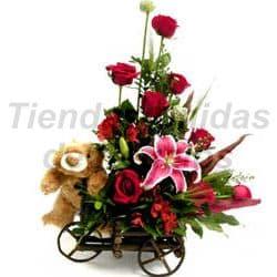 Deliregalos.com - Carreta de Rosas