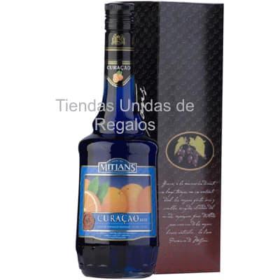 Blue Curacao Mitjans | Licor Convier Blue Curacao Botella 750 ml - Cod:OTR02